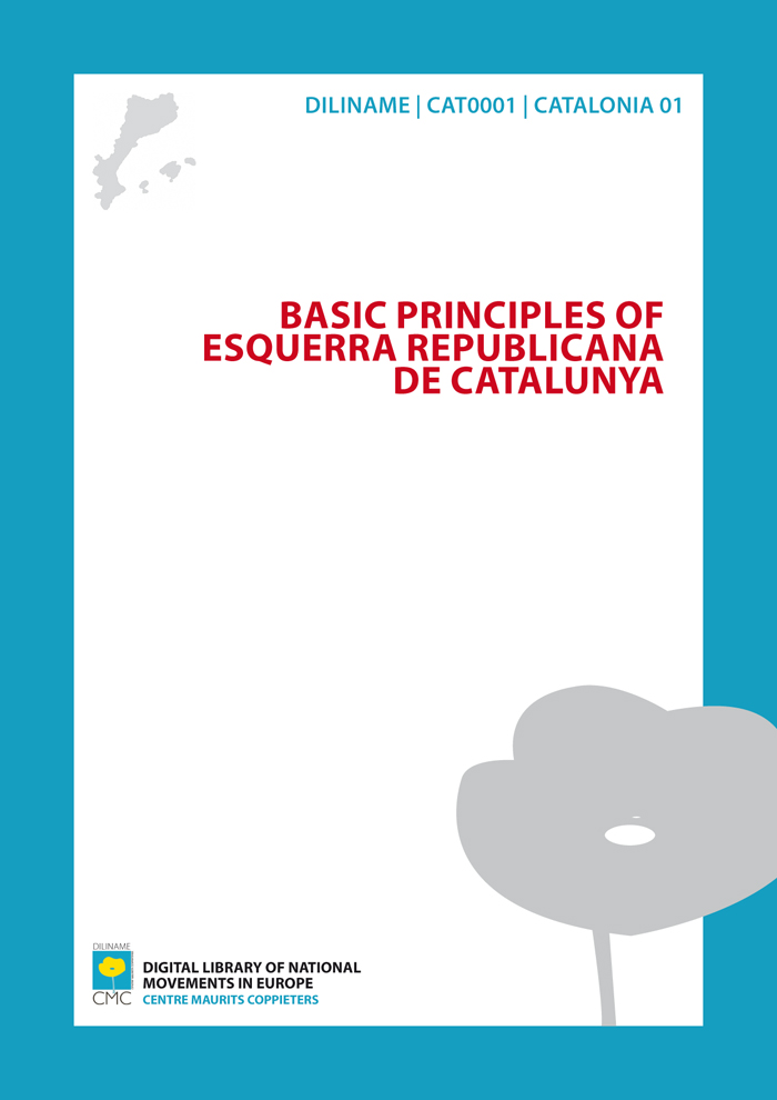 Basic Principles of Esquerra Republicana de Catalunya (1931)