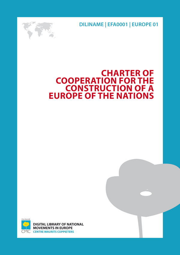 Charter of cooperation for the construction of a Europe of the nations (1979)