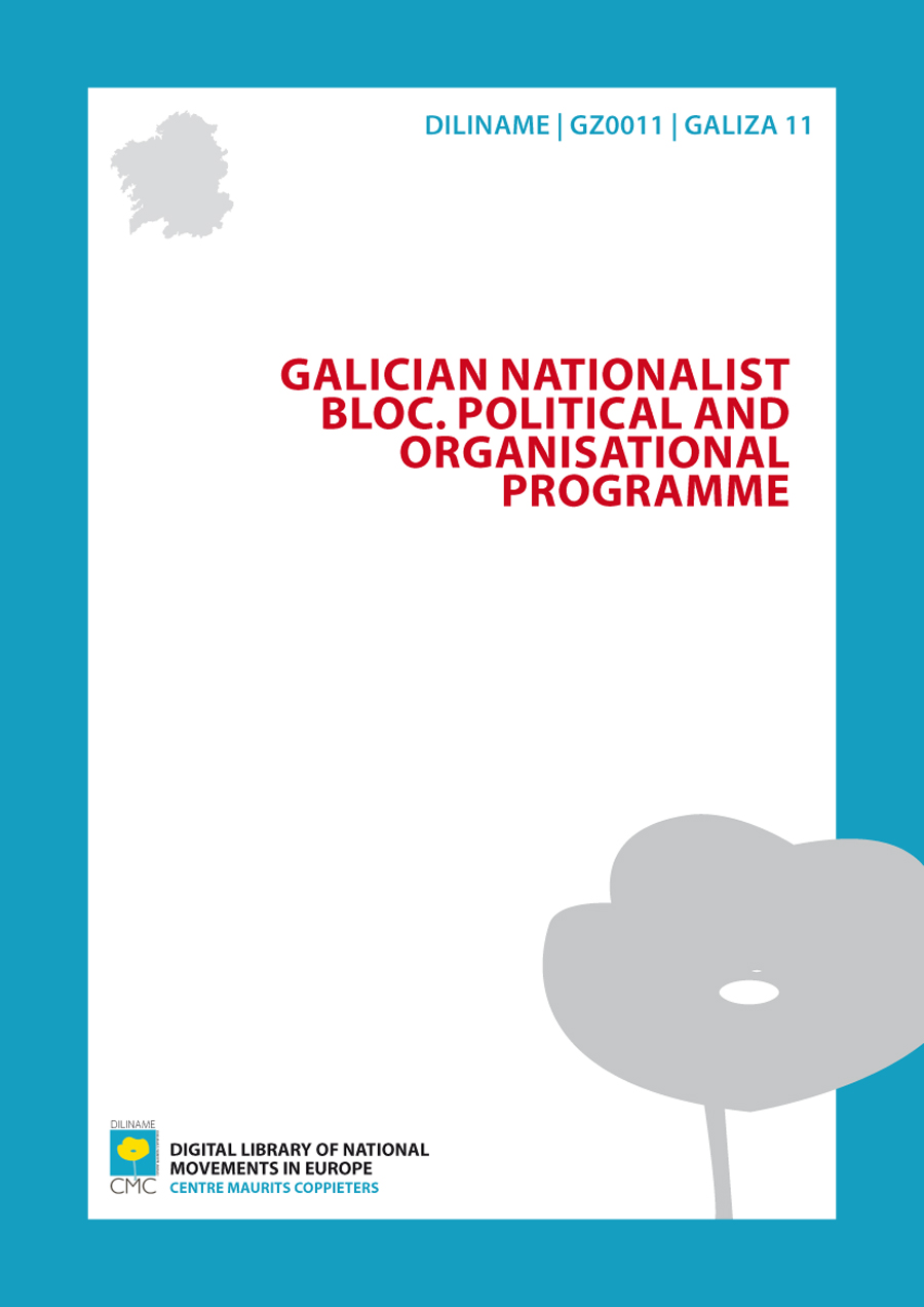 Galician Nationalist Bloc. Political and organisational programme (1982)