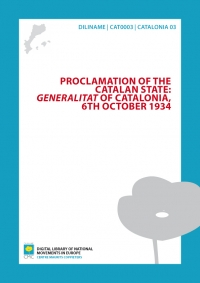 Proclamation of the Catalan state