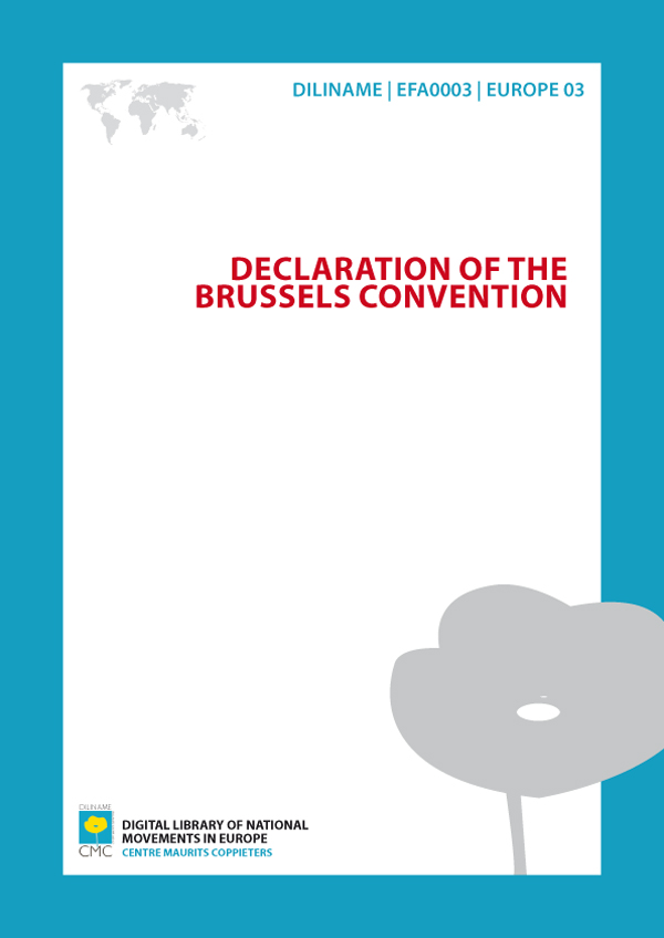 Declaration of the Brussels Convention (1981)