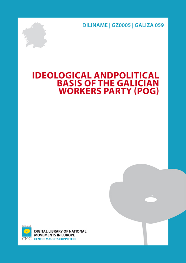 Ideological and political basis of the Galician Labour Party (POG) (1977)
