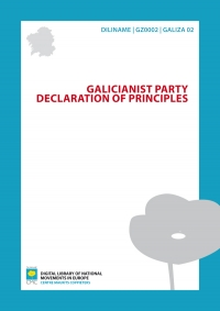 Galicianist Party. Declaration of principles