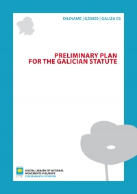 Preliminary plan for the Galician Statute