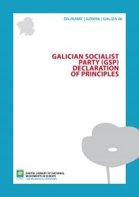 Galician Socialist Party (GSP). Declaration of principles