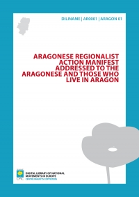 Aragonese Regionalist Action Manifest addressed to the Aragonese and those who live in Aragon